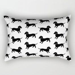 Dachshund Pattern Rectangular Pillow