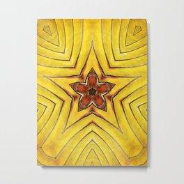 Symmetrical Star Macro Metal Print