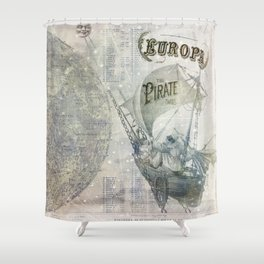 Europa and the Pirate Twins Shower Curtain