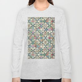 Muted Moroccan Mosaic Tiles Long Sleeve T-shirt