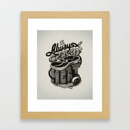 Meat Cravings Framed Art Print