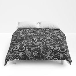 Gray Paisley Pattern Comforters