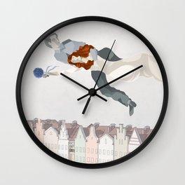 Flying Couple Wall Clock