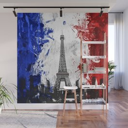 Eiffel Tower Painting Abstract Wall Mural