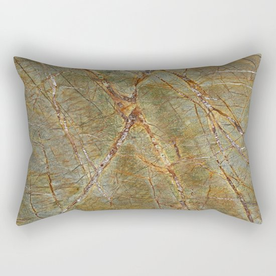 Forest Green Marble Rectangular Pillow