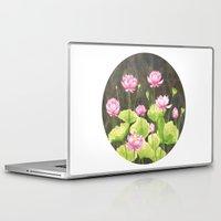lotus flower Laptop & iPad Skins featuring Lotus by Carla Adol