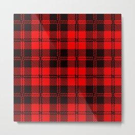 Red Kilt Tartan Metal Print