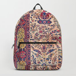 Silk Kashan Central Persian Rug Print Backpack