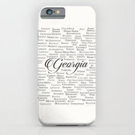 Georgia iPhone Case