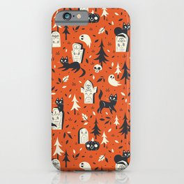 Cemetery Cuties (Orange) iPhone Case