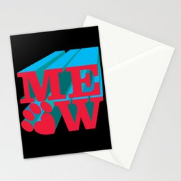MEOW paw Stationery Cards
