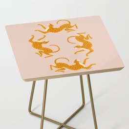 Leopard Race - pink Side Table