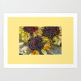 Ukrainian Sunflowers Art Print