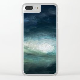 A Wild Wave - Storm Clear iPhone Case