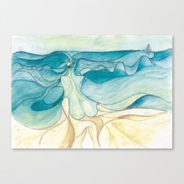 Nude at the sea Canvas Print