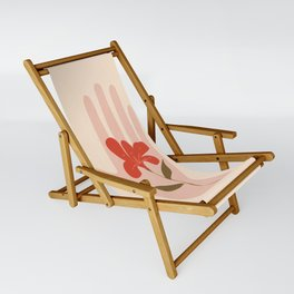 Flower on the Palm of the Hand Sling Chair