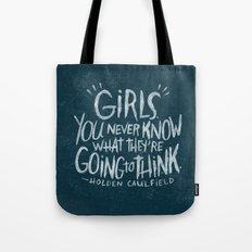 HOLDEN CAULFIELD ON GIRLS (AGAIN!) Tote Bag