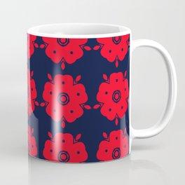 Japanese Samurai flower red pattern Coffee Mug