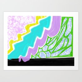 Into the doodle Art Print
