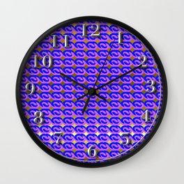 Modius Loop Blue/Lavender on Gold Wall Clock
