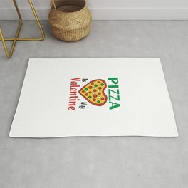 Pizza Is My Valentine (2) Rug