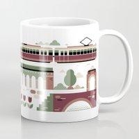 vienna Mugs featuring Vienna / Wien by koivo