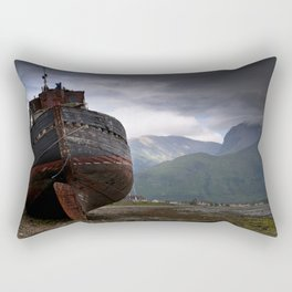 Left high and dry. Rectangular Pillow