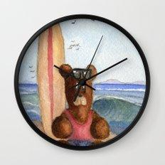 Surfer Bear Wall Clock