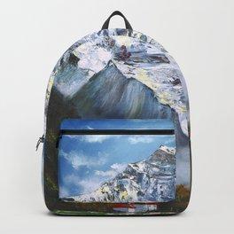 Jungfrau mountain. Swiss Alps Backpack