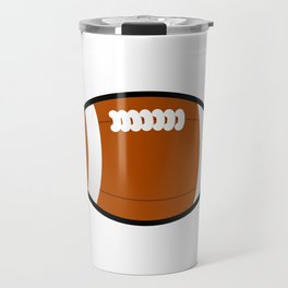 Tennessee American Football Design white font Travel Mug