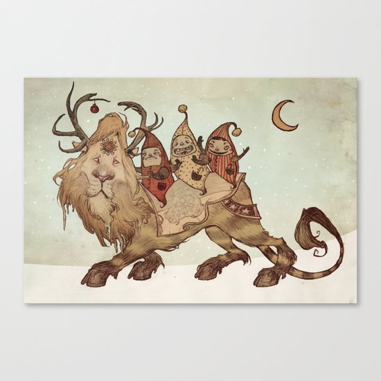 The Yuletide Beast Canvas Print