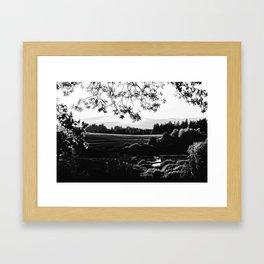 idyllic nature landscape vabw Framed Art Print