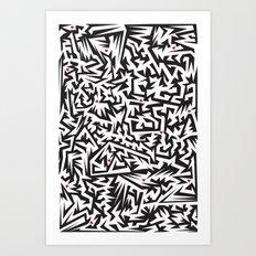 Love labyrinth Art Print