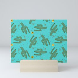 Dancing Saguaros Mini Art Print