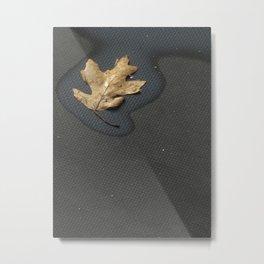 Her Smallest Leaf Metal Print
