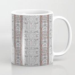 Vintage Grey White Mosaic Striped Pattern Coffee Mug