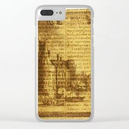 Scrittura edificio Clear iPhone Case