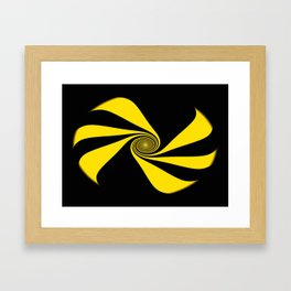 Abstract. Yellow Ribbon. Framed Art Print