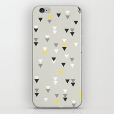 little triangles yellow iPhone Skin