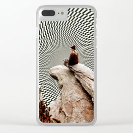 Illusionary Cliff Clear iPhone Case