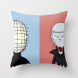 Adventure Time with Cenobites from Hellraiser Throw Pillow