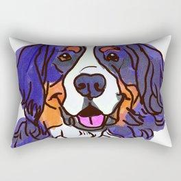 the Bernese Mountain Dog love of my life! Rectangular Pillow