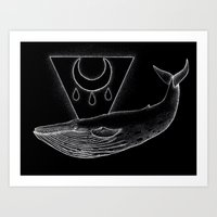 Blessed Blue Whale Art Print