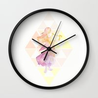 the legend of zelda Wall Clocks featuring Zelda by ShikaJoy