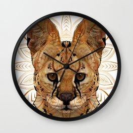Serval Mandala Wall Clock