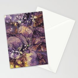 Violet abstract marble pattern Stationery Cards