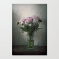 peonies Canvas Prints featuring Peonies by Pauline Fowler ( Polly470 )