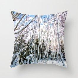 St. Anns Bay Hiking Trail - Cape Breton Island Throw Pillow