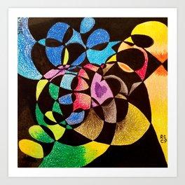 Rainbow Eating shadows Art Print