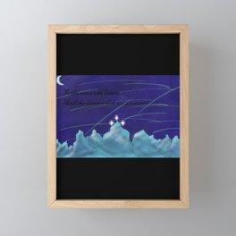 To the Stars who listen Framed Mini Art Print